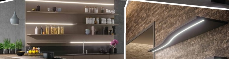librerie cartongesso illuminate con led